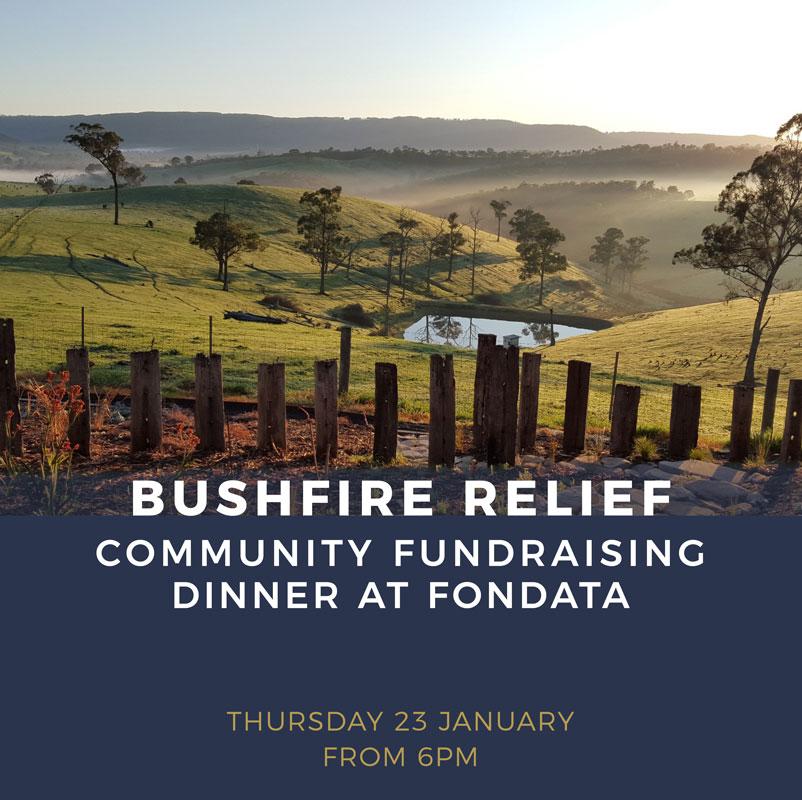Bushfire relief fundraiser dinner